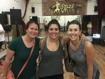 Kati, Elisa and I at our first salsa lesson.
