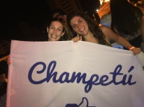 Elisa and I excited about our Champeta night.